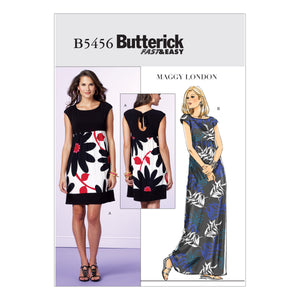 Butterick B5456F50 Misses'/Misses' Petite Dress 16-18-20-22-24
