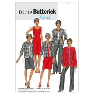 Butterick B5719B50 Misses'/Women's Jacket, Dress, Skirt and Pants 8-10-12-14-16
