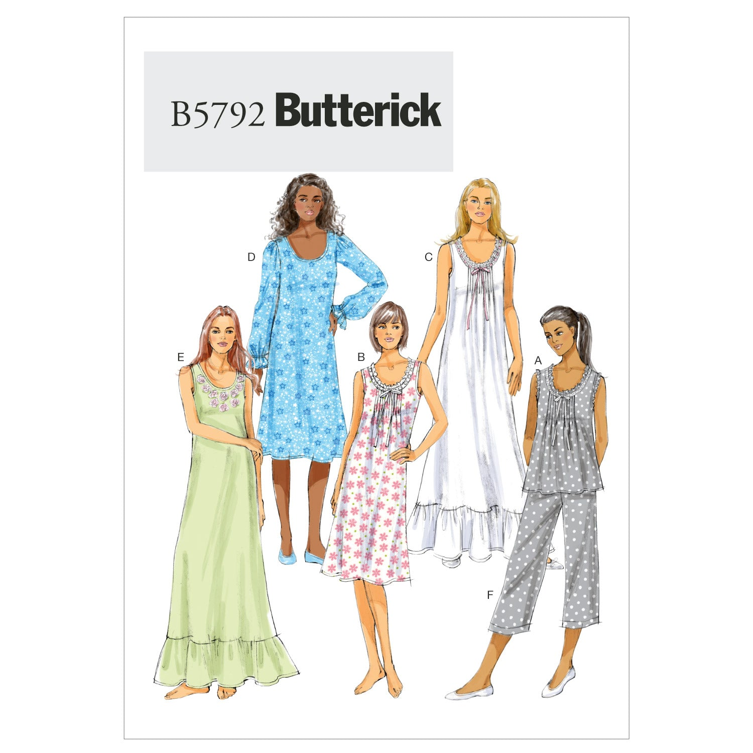 Butterick B57920Y0 Misses' Top, Gown and Pants XSM-SML-MED