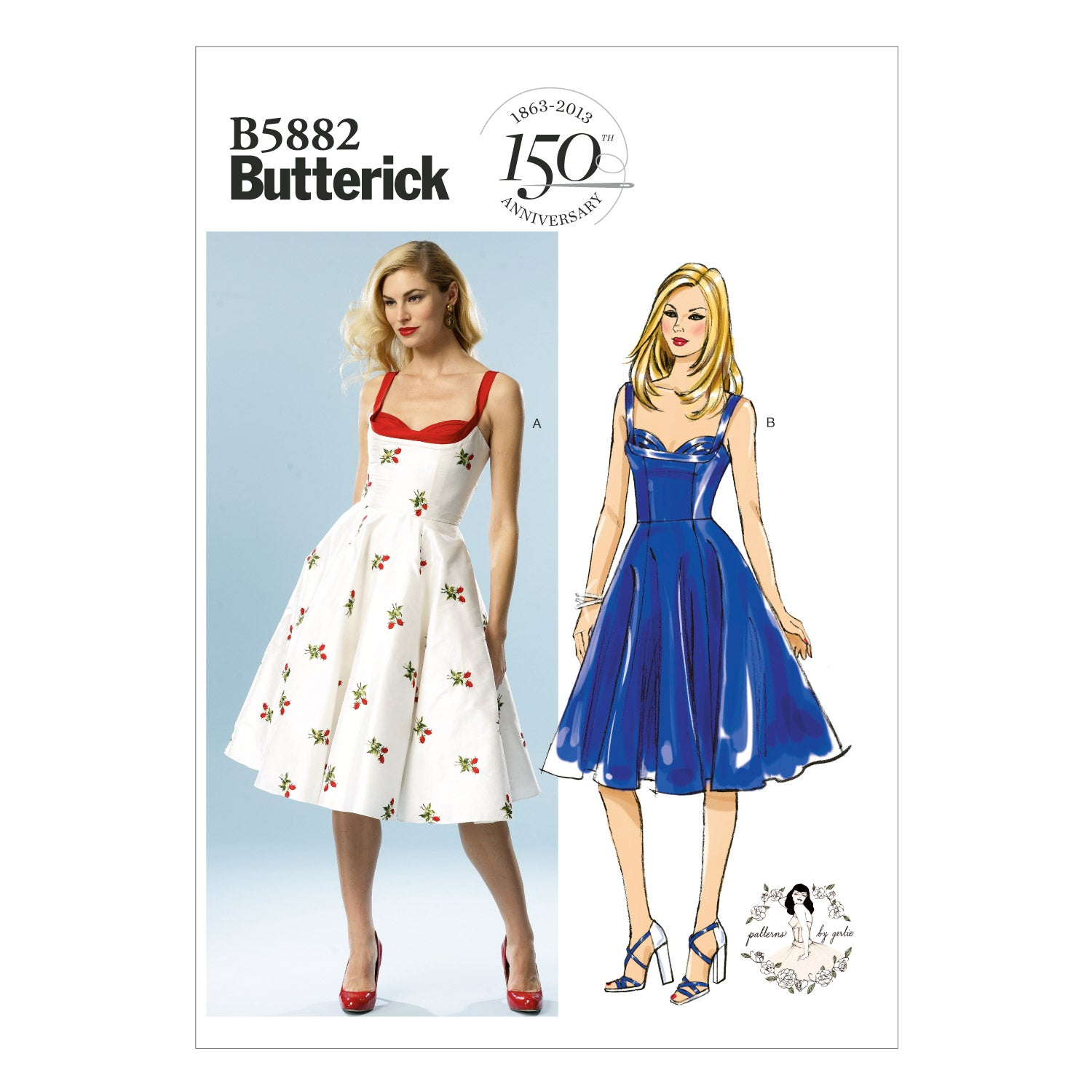 Butterick B5882AX5 Misses' Dress 4-6-8-10-12