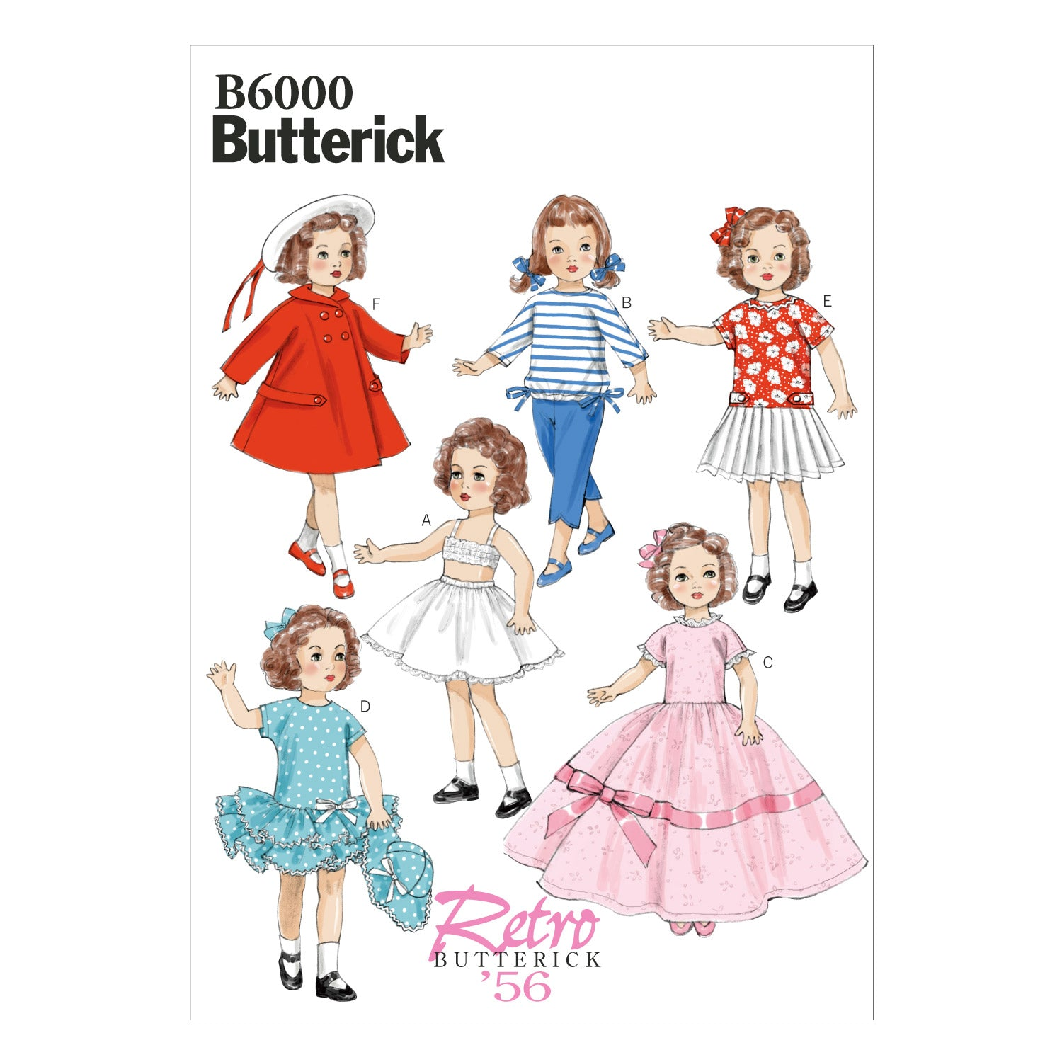 "Butterick B6000OSZ Clothes For 18"" (46cm) Doll One Size Only"