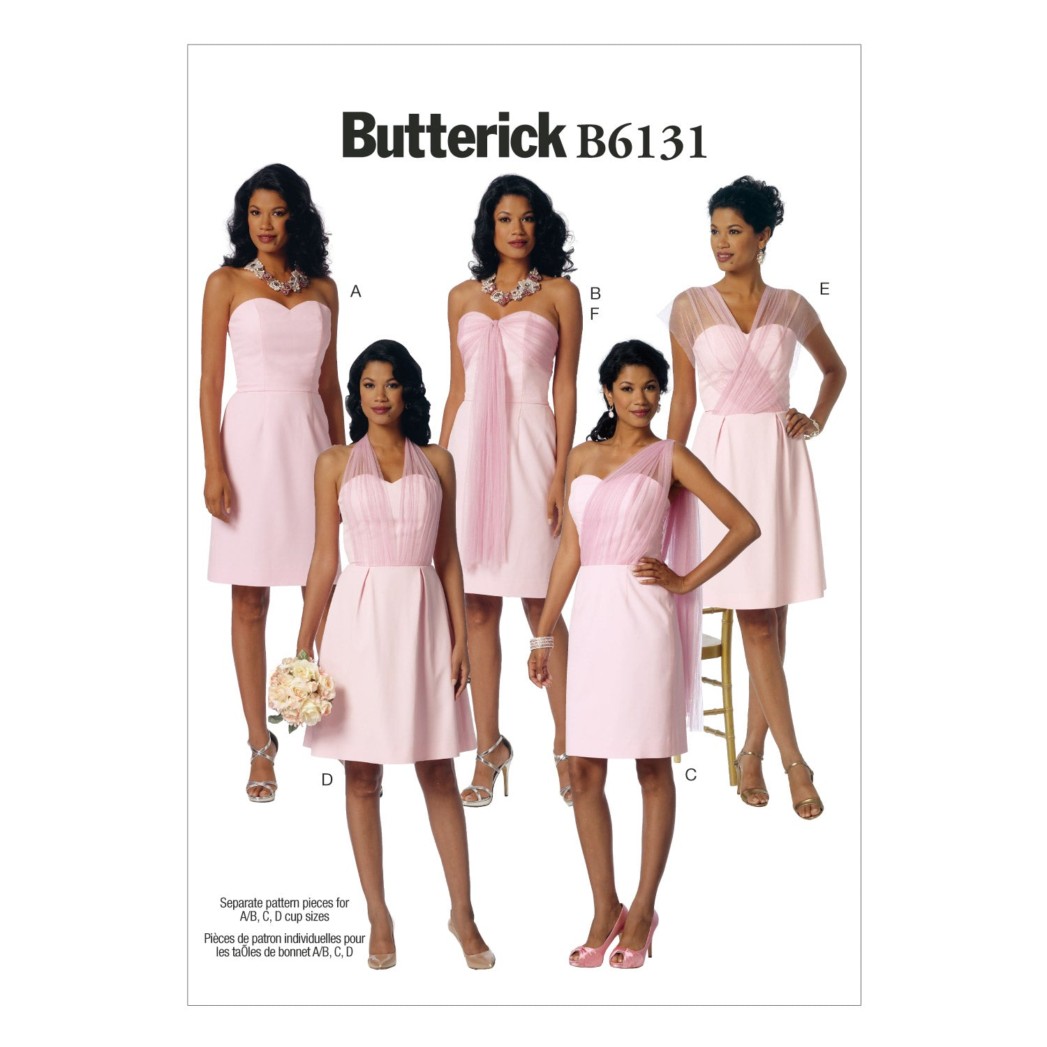 Butterick B6131A50 Misses' Dress and Sash 6-8-10-12-14