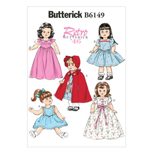 "Butterick B6149OSZ 18"" Doll Clothes One Size Only"