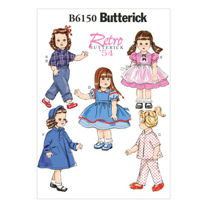 "Butterick B6150OSZ 18"" Doll Clothes One Size Only"