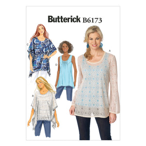 Butterick B6173A50 Misses' Tunic and Top 6-8-10-12-14
