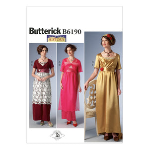 Butterick B6190A50 Misses' Costume 6-8-10-12-14