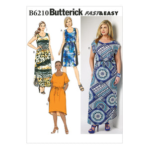 Butterick B6210KK0 Women's/Women's Petite Dress 26W-28W-30W-32W