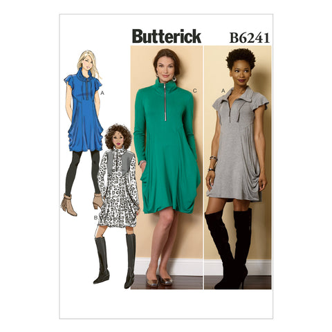 Butterick B6241E50 Misses' Dress 14-16-18-20-22