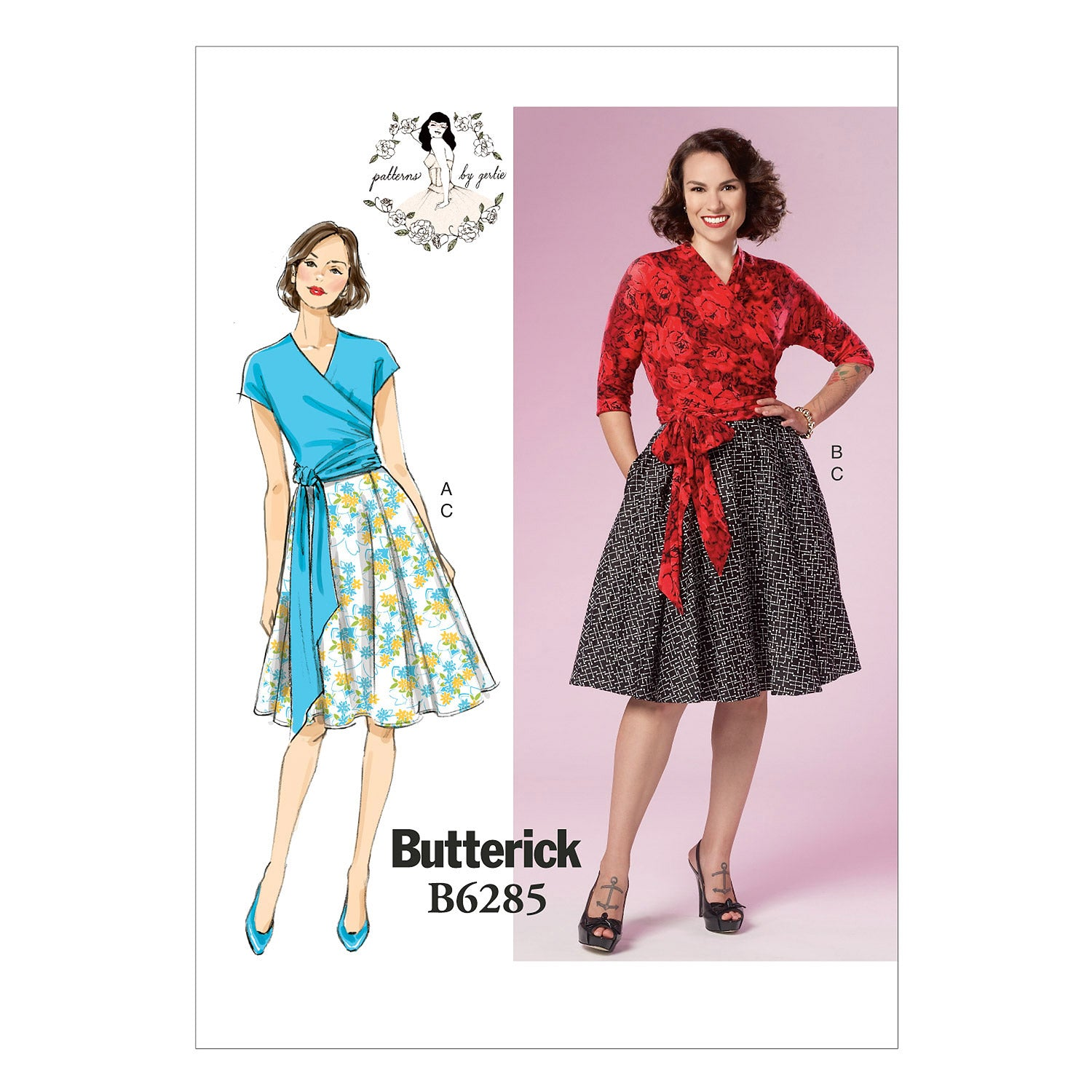 Butterick B6285E50 Misses' Top and Skirt 14-16-18-20-22