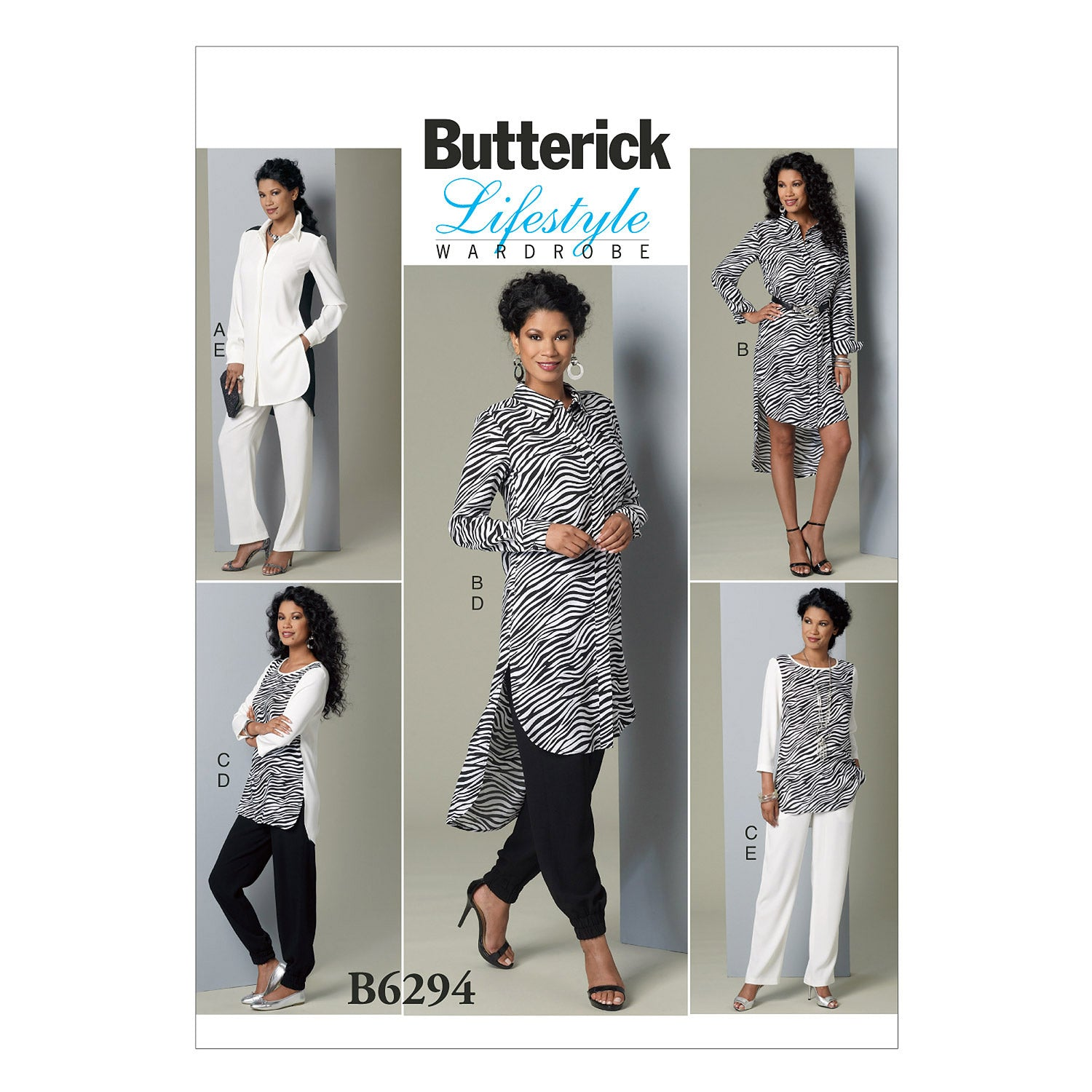 Butterick B6294B50 Misses' Tunic and Pants 8-10-12-14-16