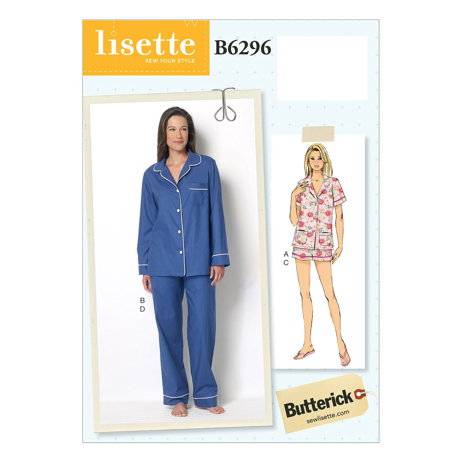 Butterick B6296A50 Misses' Top, Shorts and Pants 6-8-10-12-14