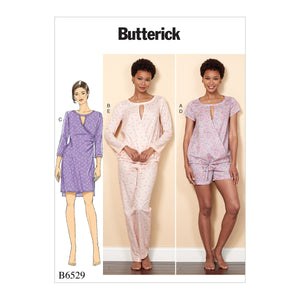 Butterick B65290Y0 Misses' Crossover Top, Dress, Shorts and Pants XS-S-M