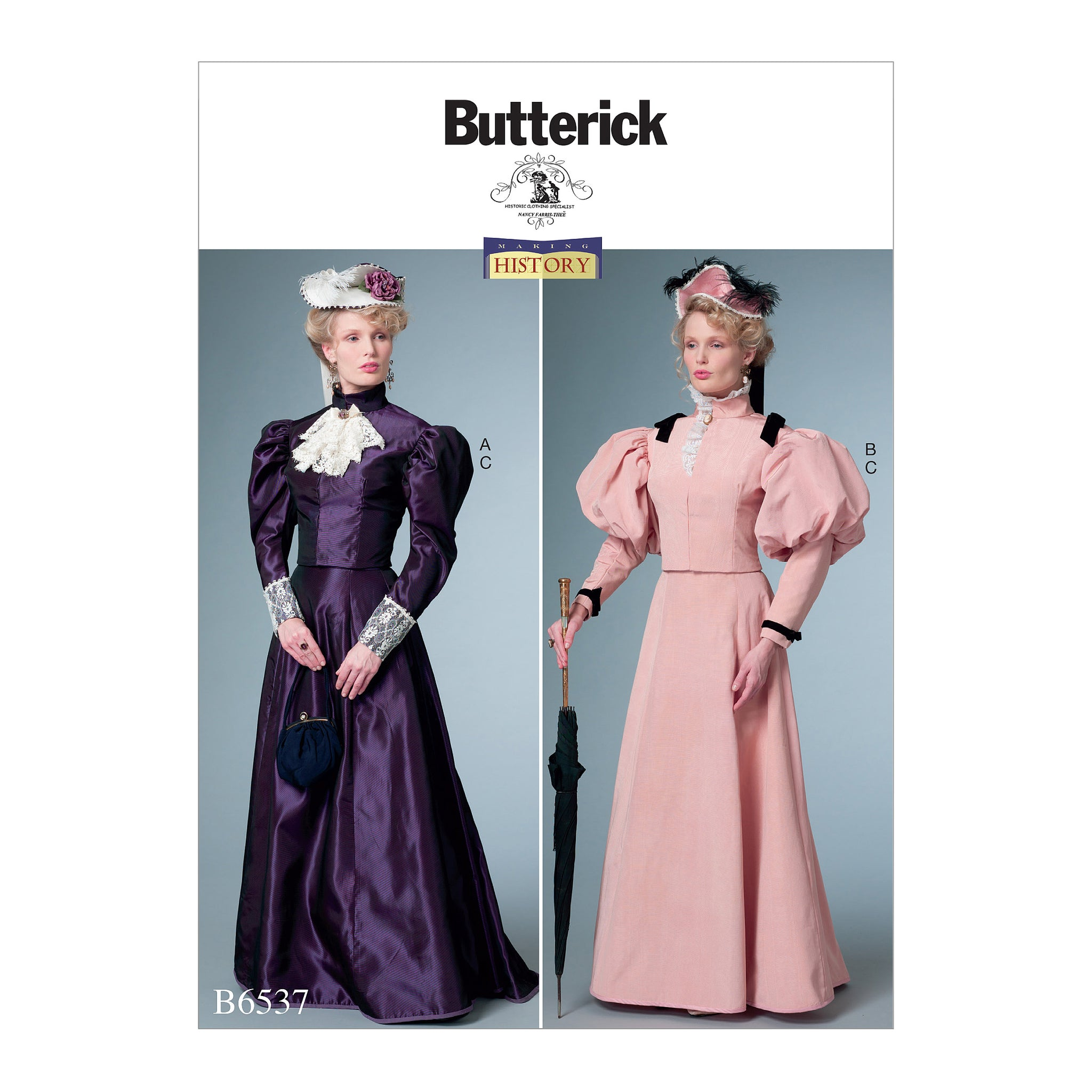 Butterick B6537A50 Misses' Costume 6-8-10-12-14