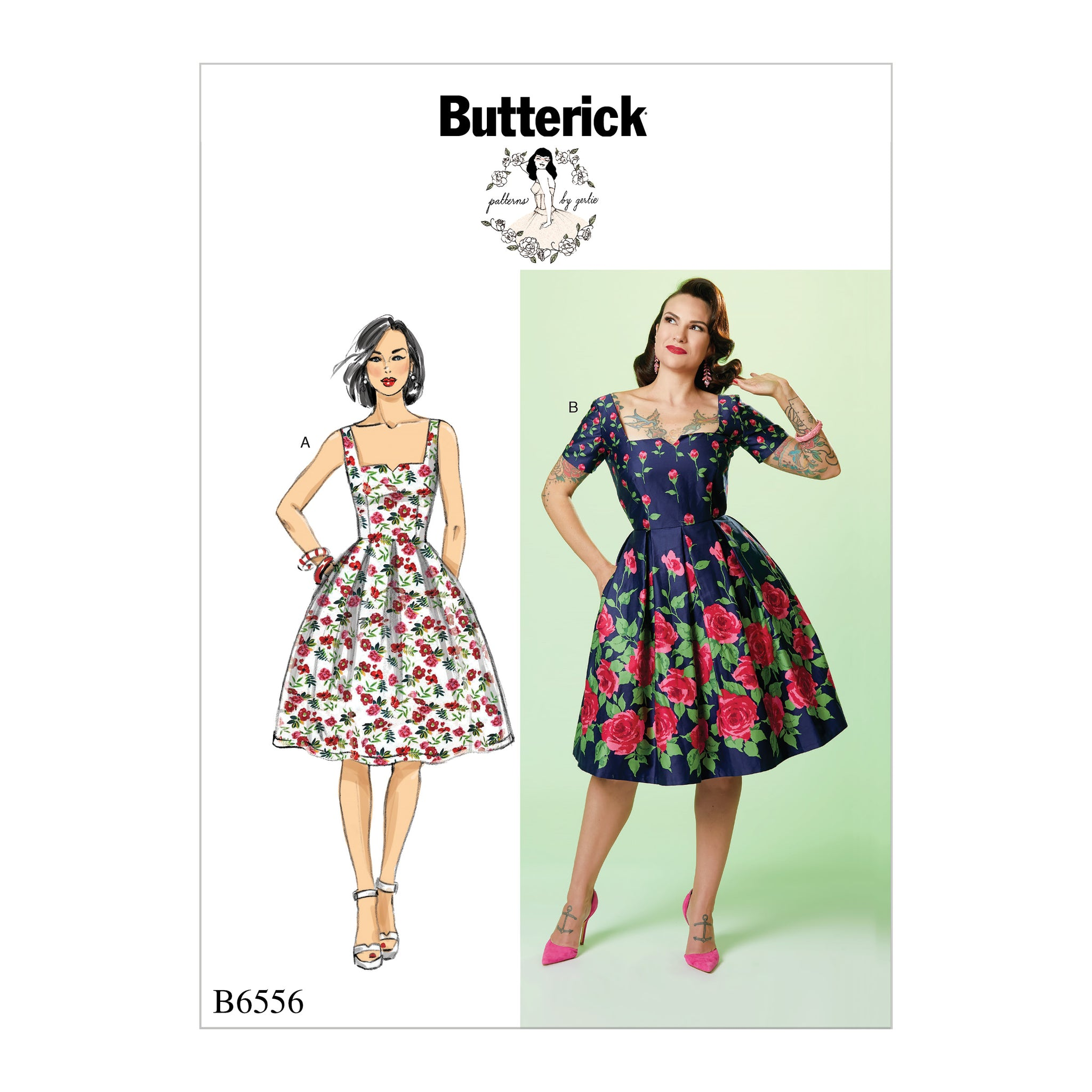 Butterick B6556A50 Misses' Dress 6-8-10-12-14