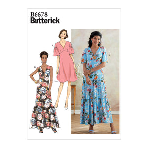 Butterick B6678A5 Misses'/Misses' Petite Dress 6-8-10-12-14