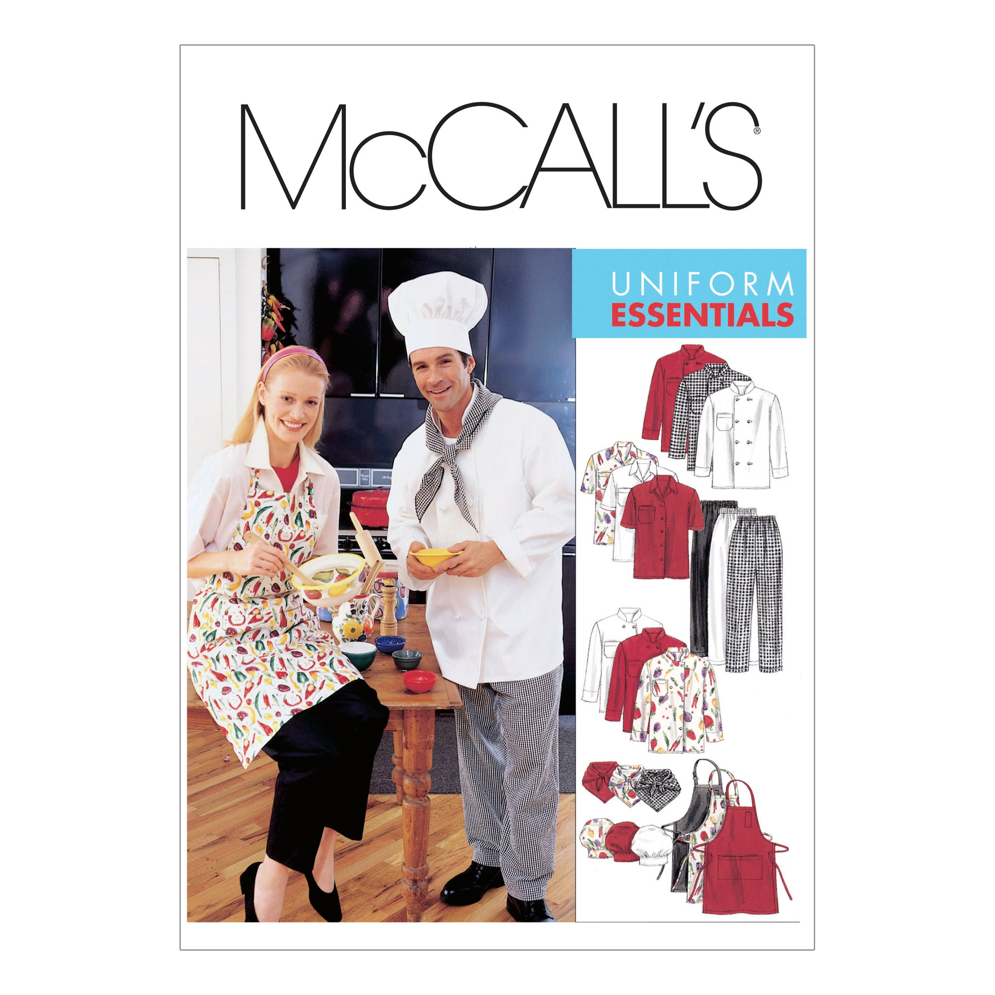 McCall's M2233XXL Misses' and Men's Jacket, Shirt, Apron, Pull-On Pants, Neckerchief and Hat XXL