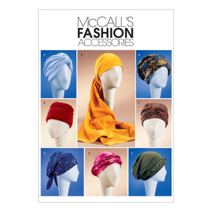 McCall's M4116OSZ Misses' Turban, Headwrap & Caps All Sizes In One Envelope