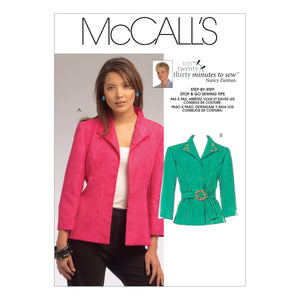 McCall's M5668MIS Misses' Jackets All Sizes In One Envelope