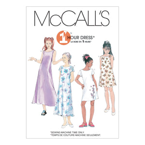 McCall's M6098CS0 Girls' Dresses In 2 Lengths 12-14-16