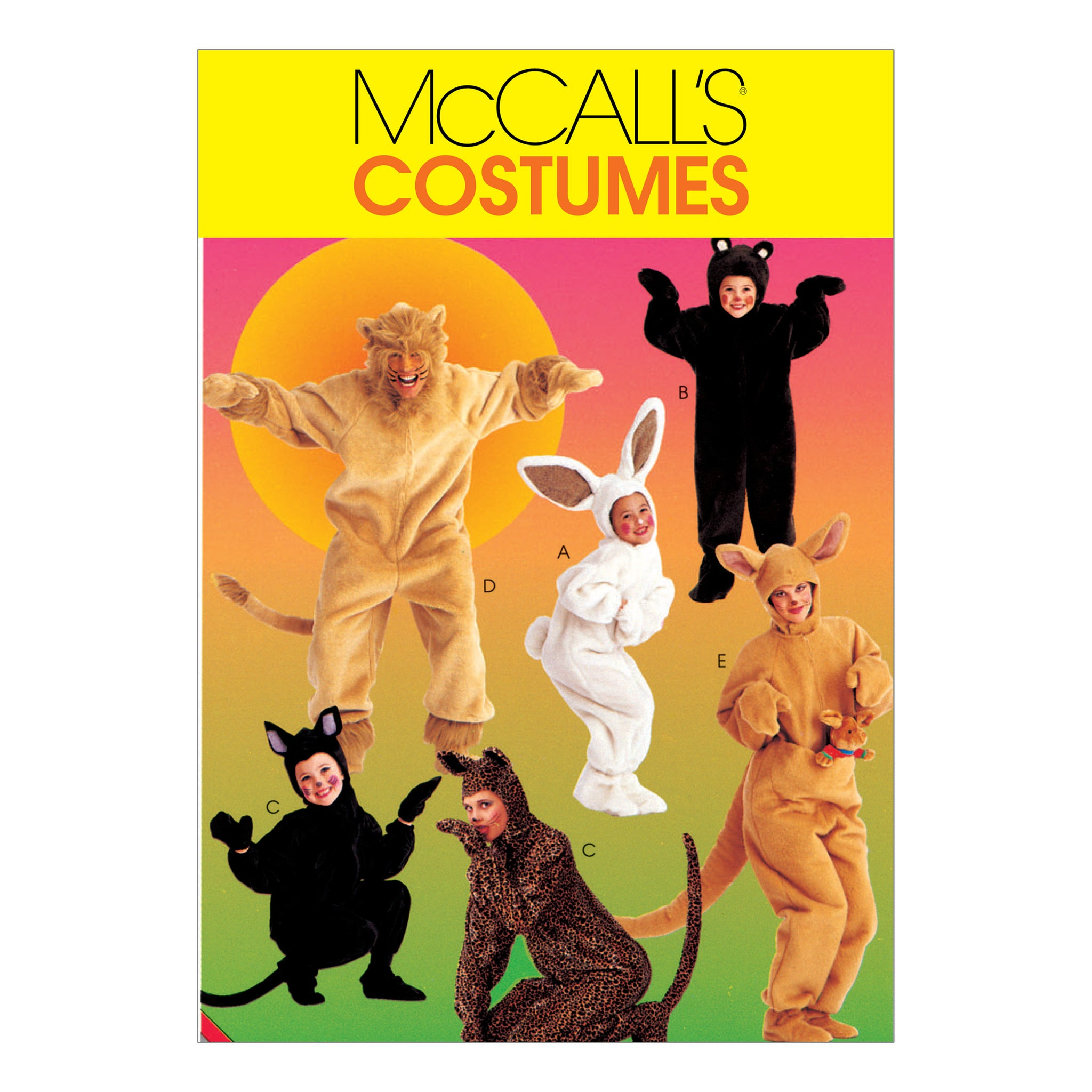 McCall's M6106MED Adults'/Kids' Animal Costumes MED