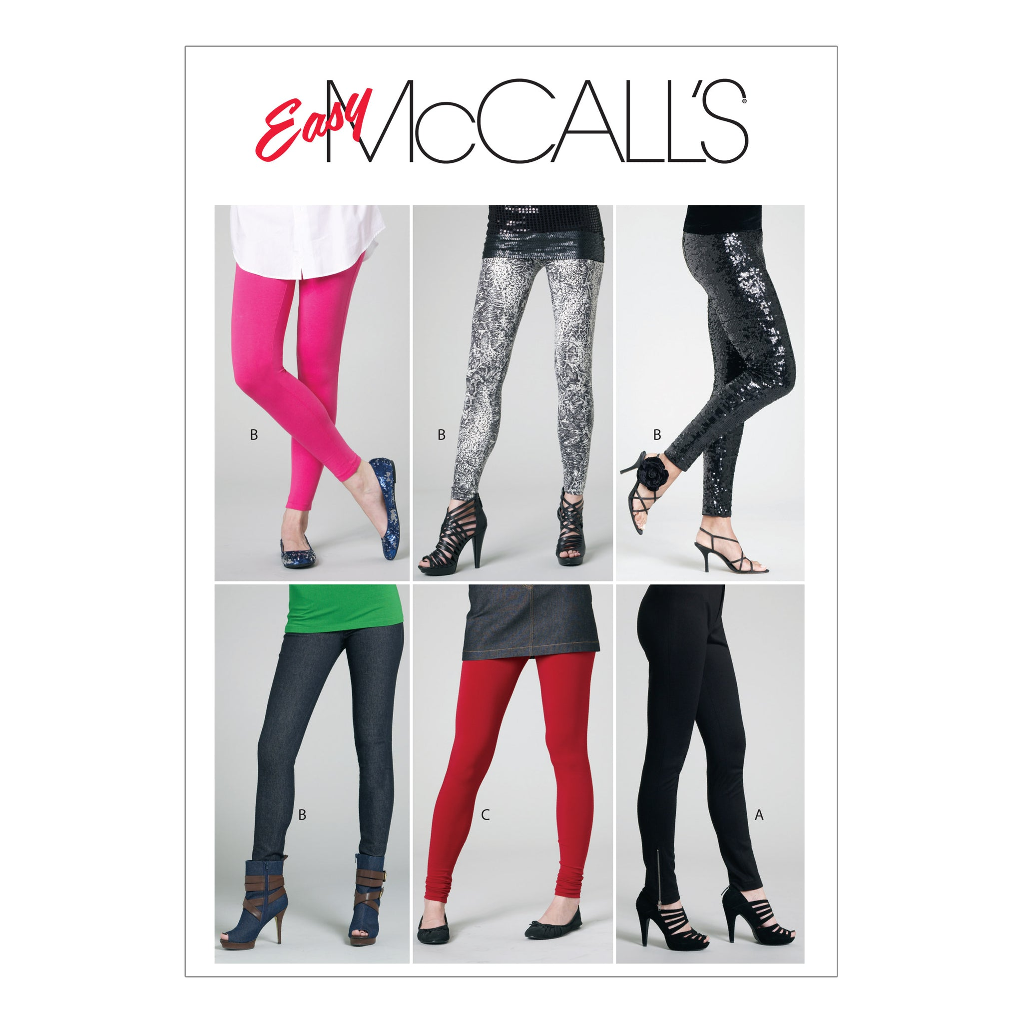 McCall's M61730Y0 Misses'/Miss Petite Pants and Leggings XSM-SML-MED