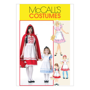 McCall's M6187KID Misses'/Children's/Girls' Storybook Costumes (3-4) (5-6) (7-8)