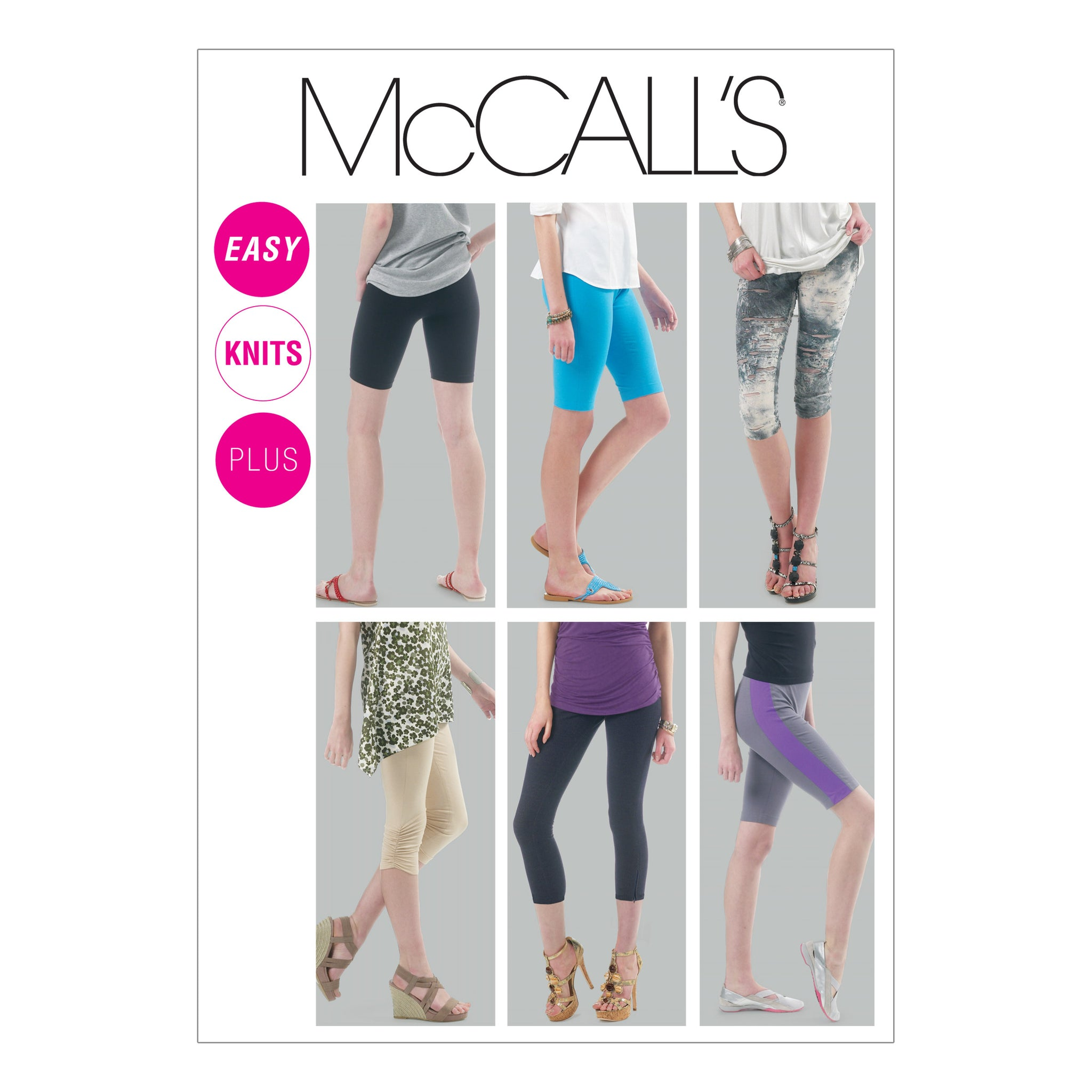 McCall's M6360A50 Misses'/Women's Leggings In 4 Lengths 6-8-10-12-14