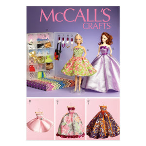 "McCall's M6903OSZ Clothes and Accessories For 11½"" (29cm) Doll, Display boxes and Hangers One Size Only"