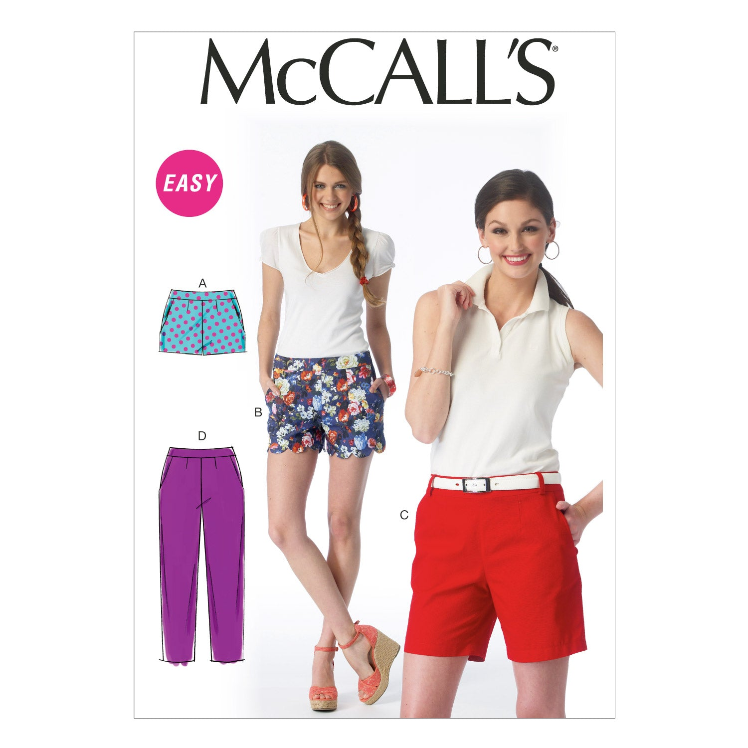McCall's M6930A50 Misses' Shorts and Pants 6-8-10-12-14