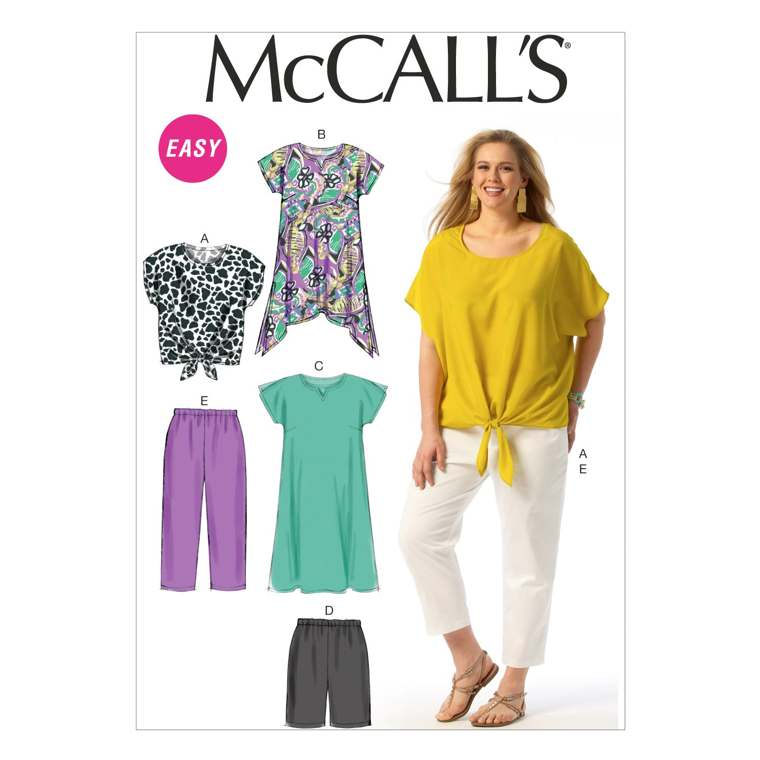 McCall's M6971RR0 Women's Top, Tunic, Dress, Shorts and Pants 18W-20W-22W-24W