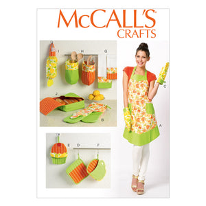 McCall's M6978OSZ Apron and Kitchen Accessories All Sizes In One Envelope