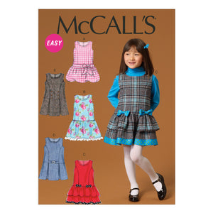 McCall's M7008CDD Children's/Girls' Jumpers 2-3-4-5