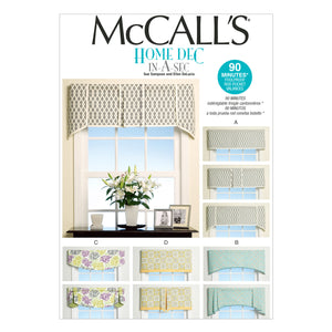 McCall's M7033OSZ Window Treatments All Sizes In One Envelope