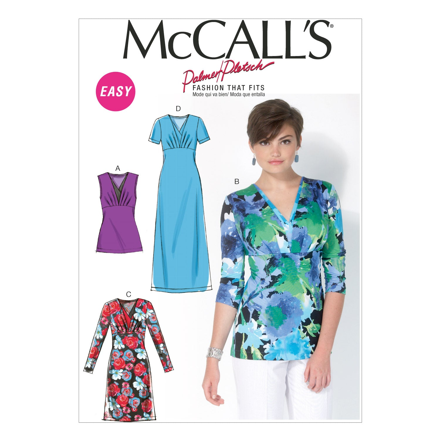 McCall's M7092F50 Misses' Tops and Dresses 16-18-20-22-24