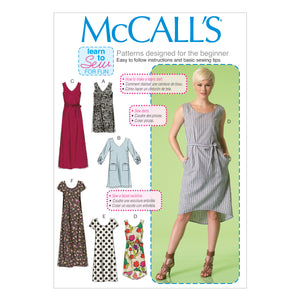 McCall's M7120ZZ0 Misses' Dresses and belt LRG-XLG-XXL