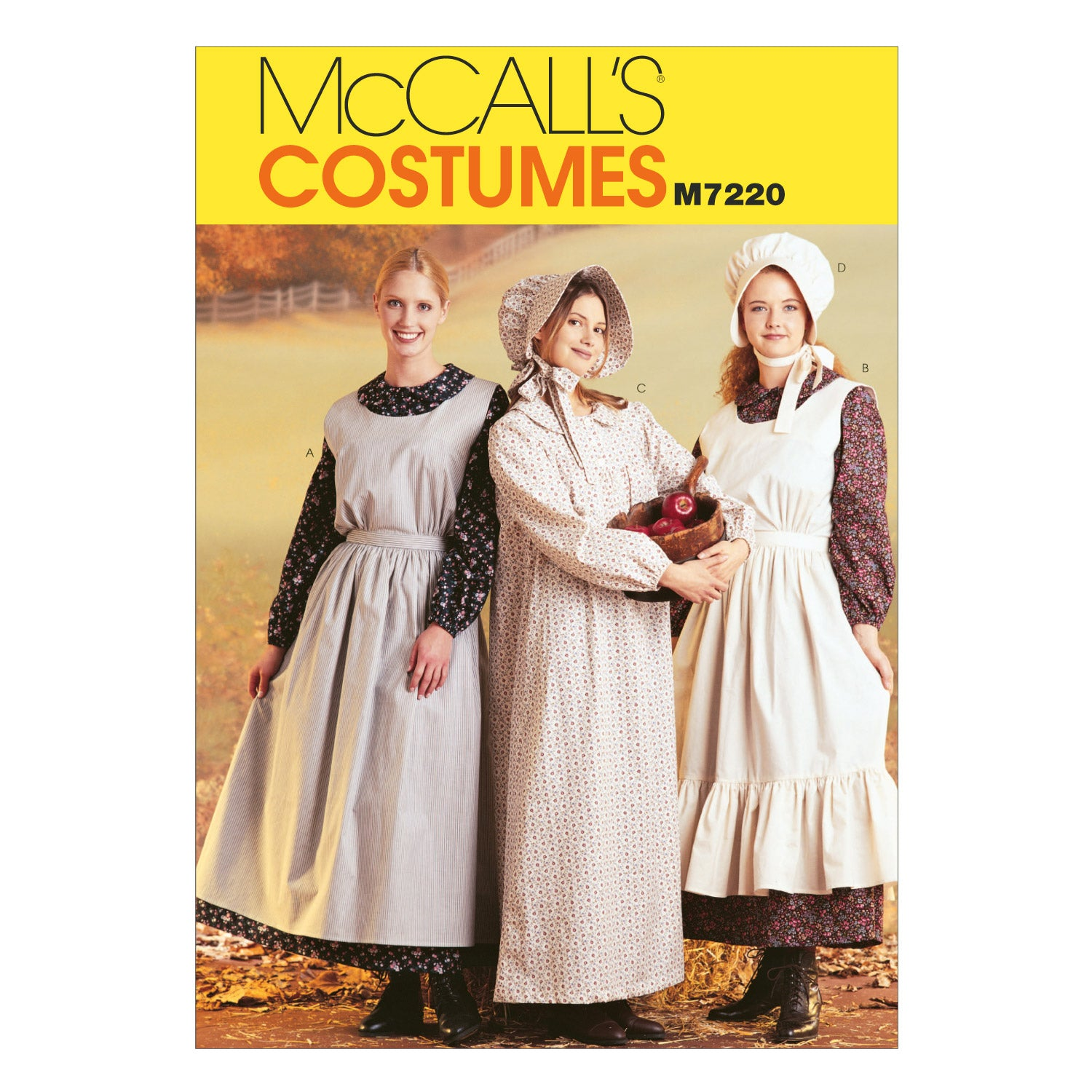 McCall's M7220MED Misses' Pioneer Costumes 12-14