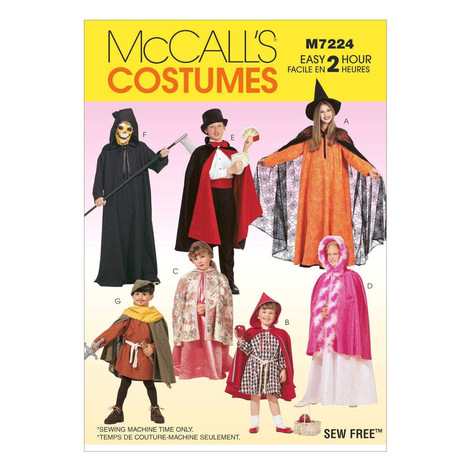 McCall's M7224KID Children's, Boys' and Girls' Cape and Tunic Costumes All Sizes In One Envelope
