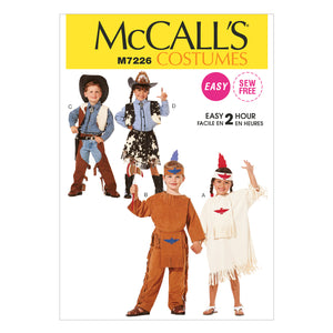 McCall's M7226020 Children's, Boys' and Girls' CowBoys and Indians Costumes 2