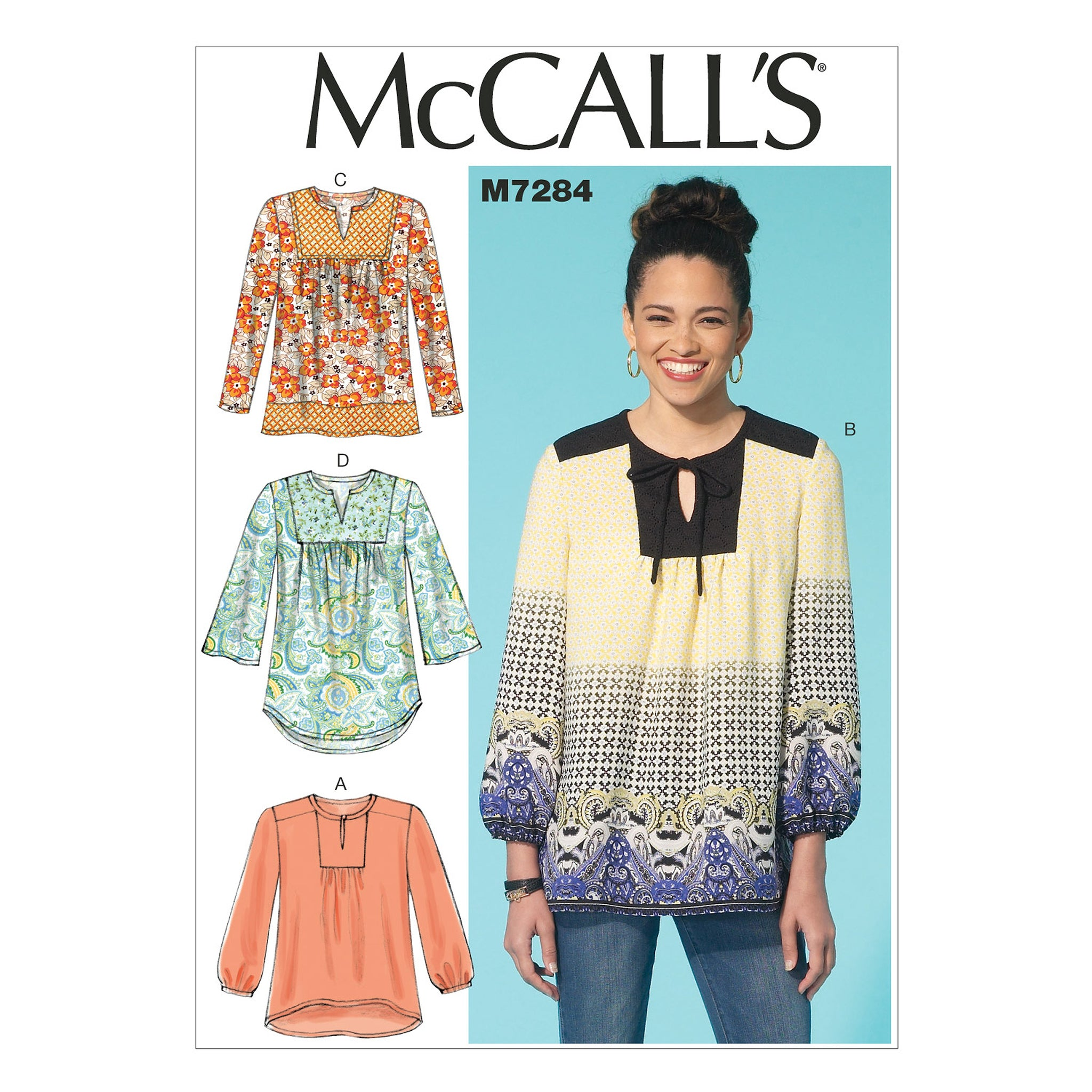 McCall's M7284ZZ0 Misses' Tops LRG-XLG-XXL
