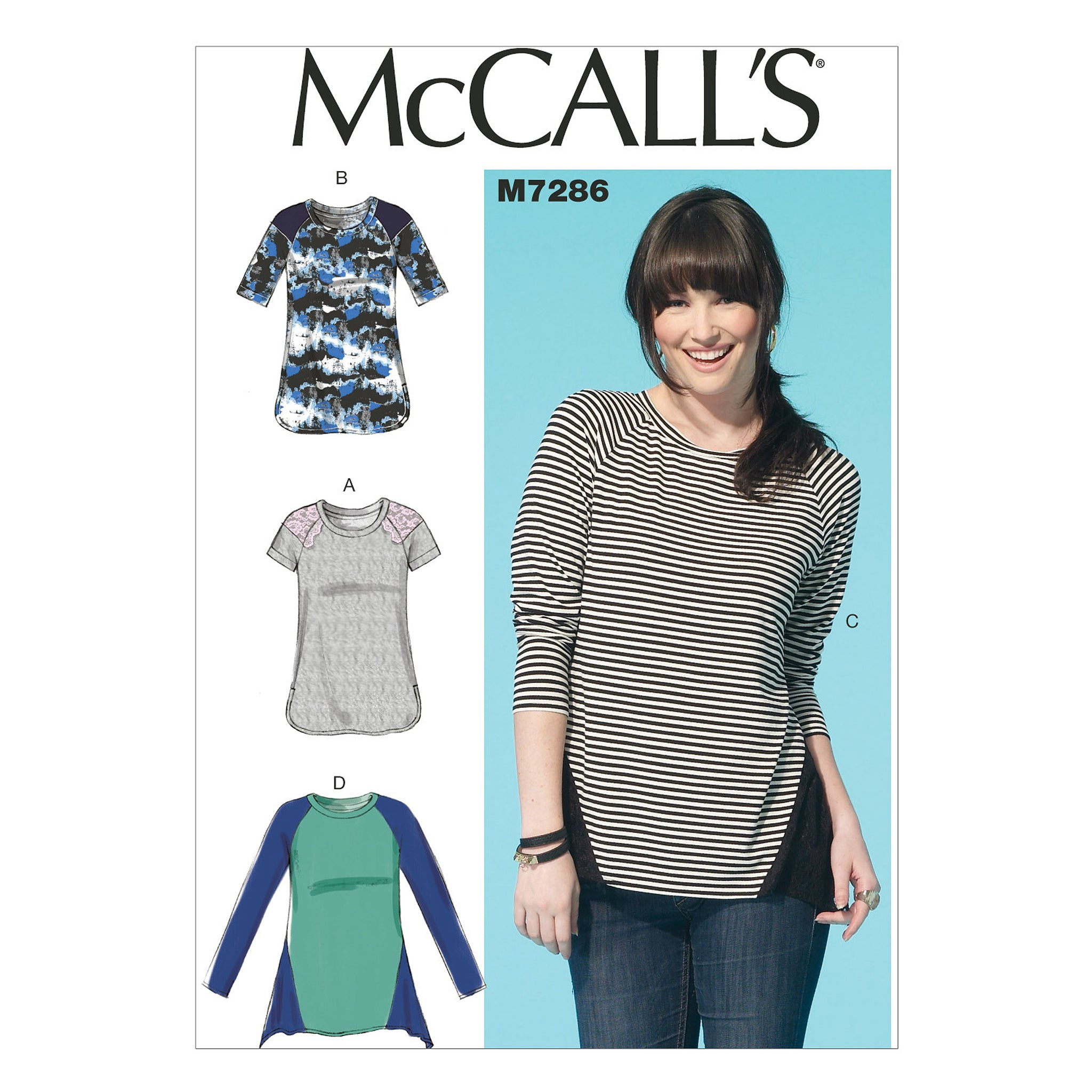 McCall's M7286ZZ0 Misses' Tops LRG-XLG-XXL