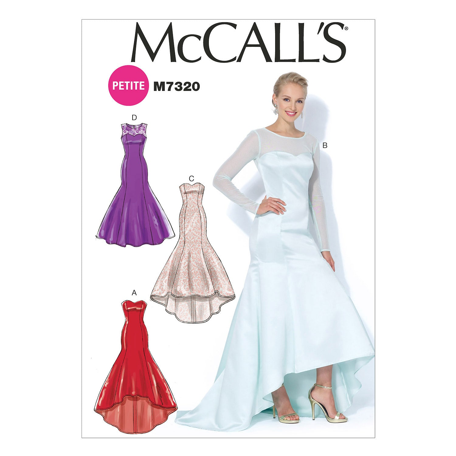 McCall's M7320A50 Misses'/Miss Petite Mermaid-Hem and High-Low Dresses 6-8-10-12-14