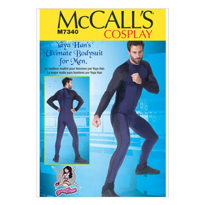 McCall's M7340MWW Men's Zippered bodysuit  Yaya Han 38-40-42-44