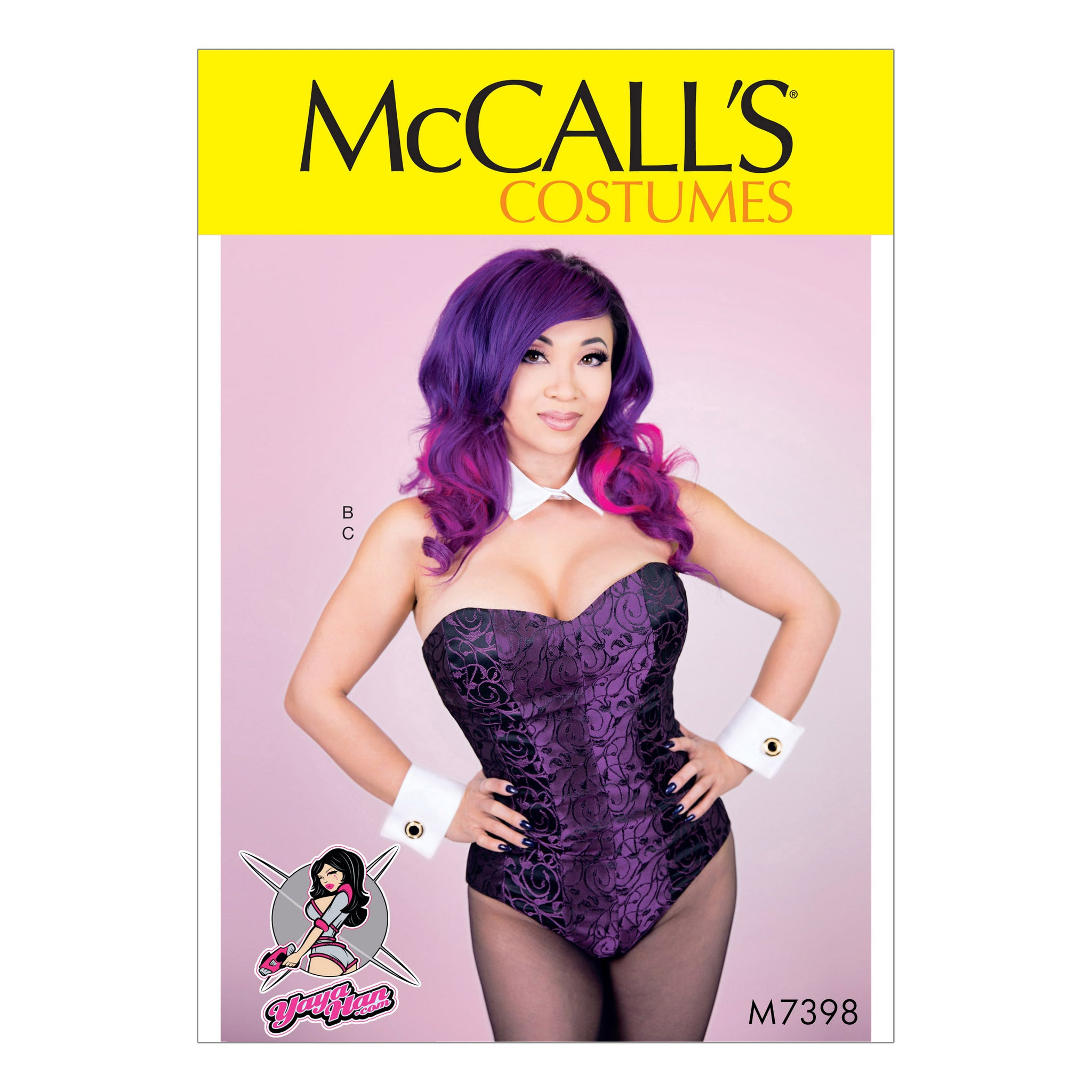 McCall's M7398E50 Misses' bodysuit Corset, Collar, Cuffs and Tail 14-16-18-20-22