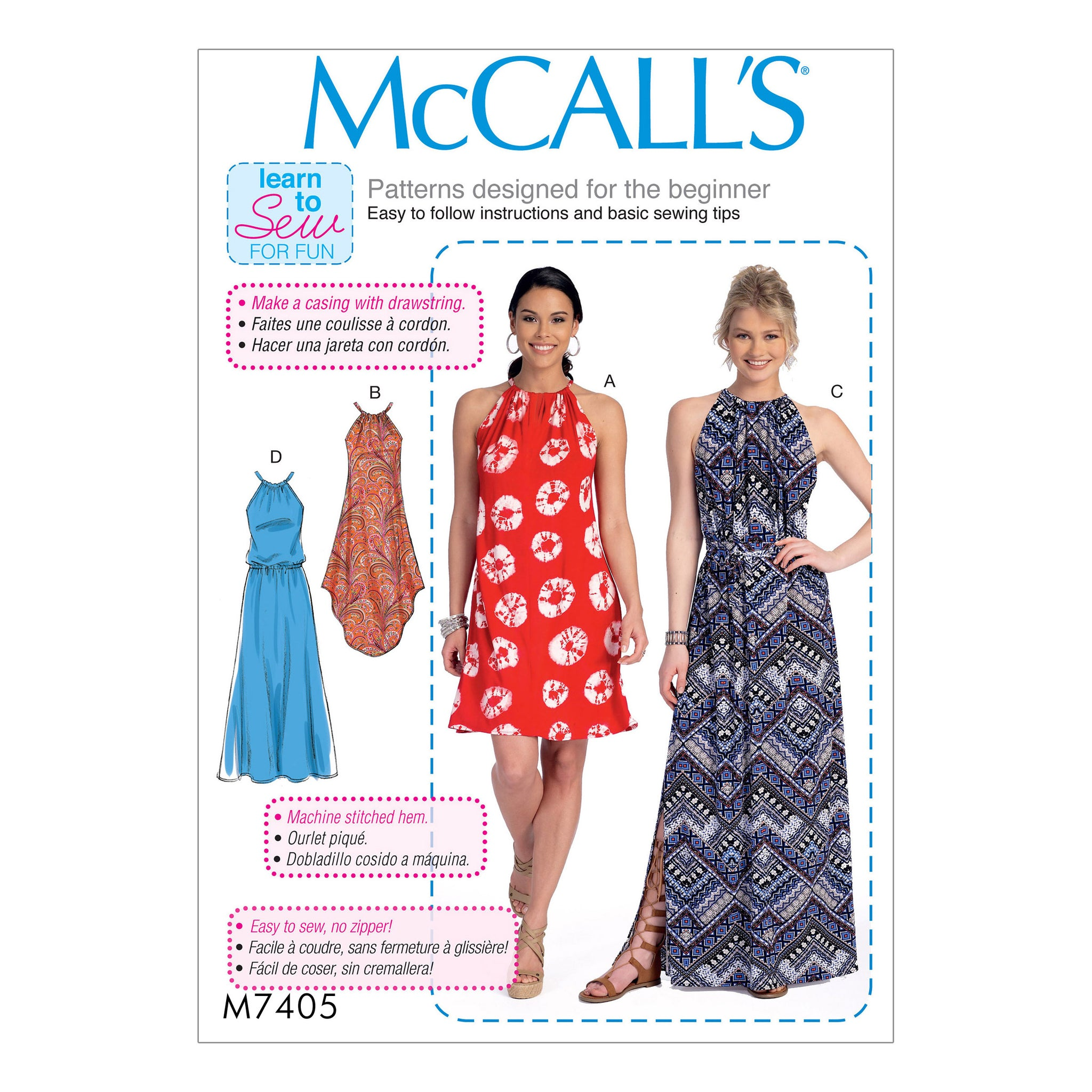 McCall's M7405ZZ0 Misses' Dresses and belt 16-18-20-22-24-26