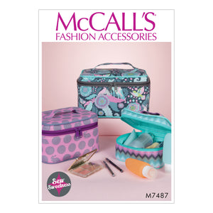 McCall's M7487OSZ Travel Cases in Three Sizes All Sizes in One Envelope
