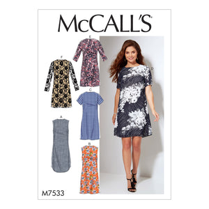 McCall's M7533BB Misses'/Women's Fitted, Sheath Dresses 8-10-12-14-16