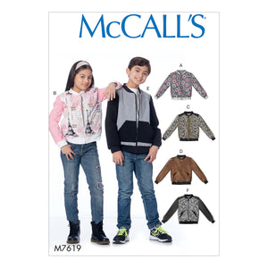 McCall's M7619CCE Children's/Girls'/Boys' bomber Jackets 3-4-5-6