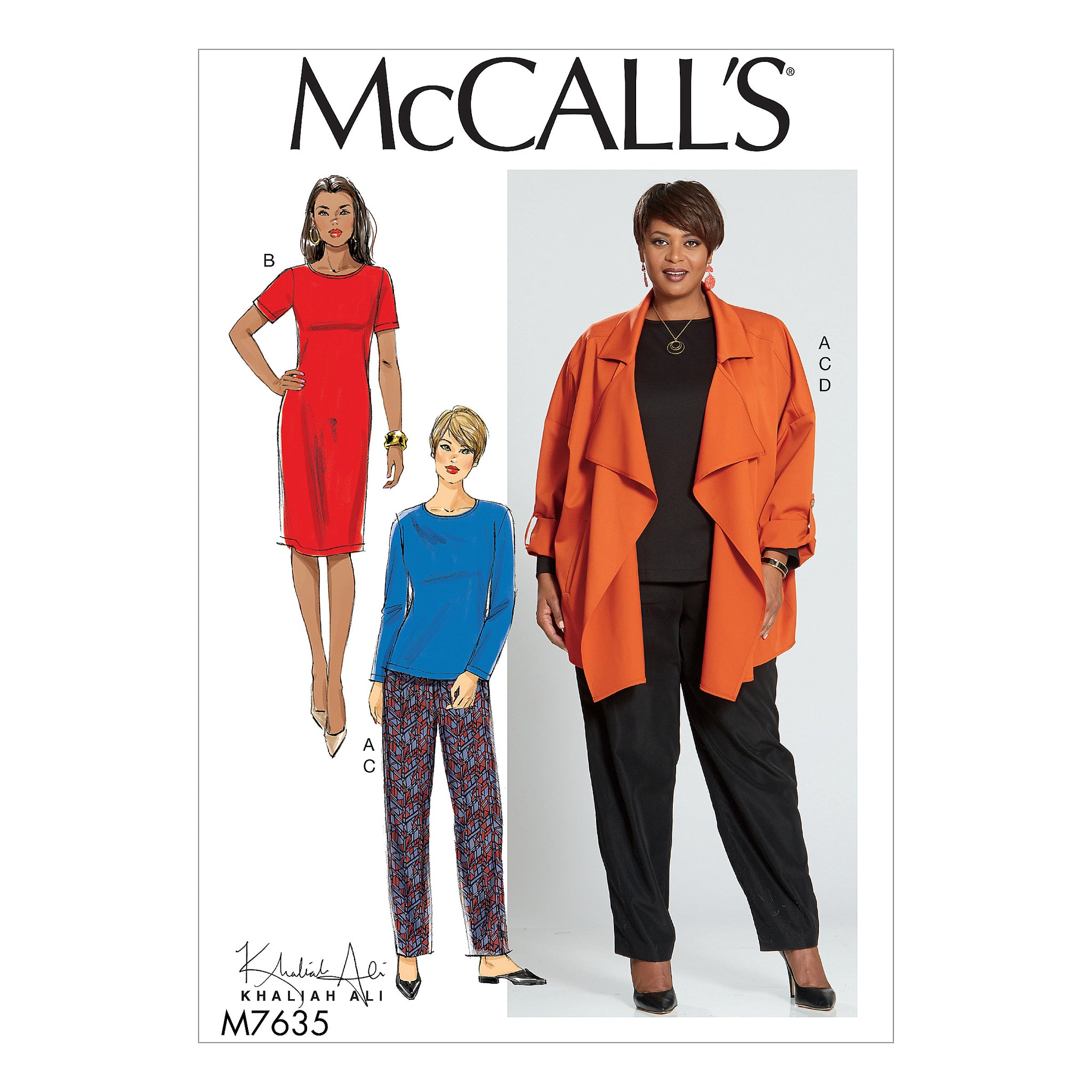 McCall's M7635RR0 Misses'/Women's Top, Dress, Pants, and Jacket 18W-20W-22W-24W