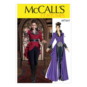 McCall's M7641E50 Misses' Jacket Costume with belt 14-16-18-20-22