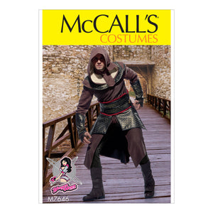 McCall's M7646MQQ Men's Tunic, Top, Capelet, belt, and Gauntlets Costume 46-48-50-52